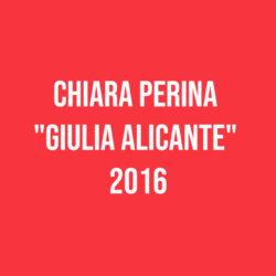 """Chiara Perina """"Giulia Alicante"""" 2016"""