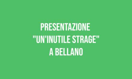 """Presentazione """"Un'inutile strage"""""""