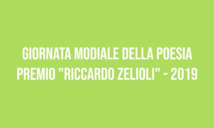 """Giornata modiale della poesia – premio """"Riccardo Zelioli"""" 2019"""